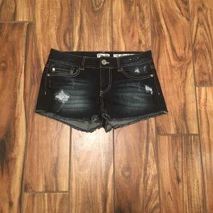 Indigo Rein Destructed Shorts